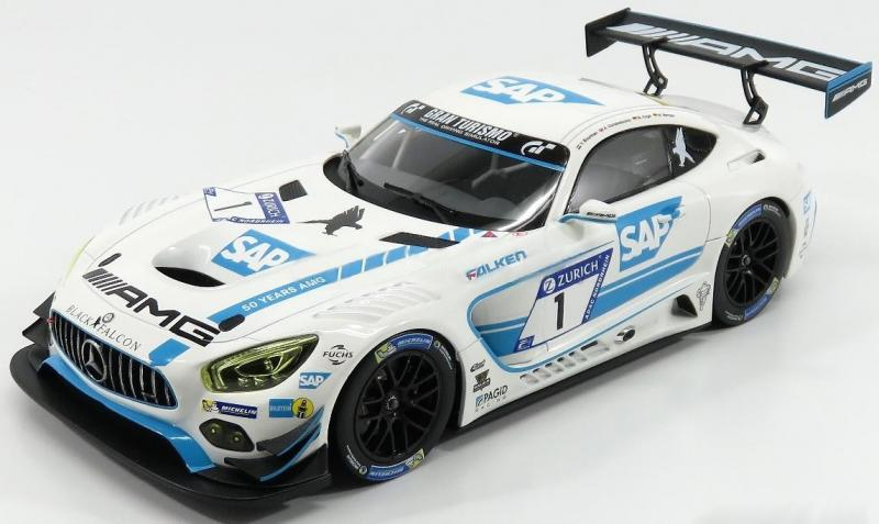 Mercedes AMG GT3 No. 1 Black Falcon NURBURGRING 2017 Racing Livery 1/18 Die-Cast Vehicle