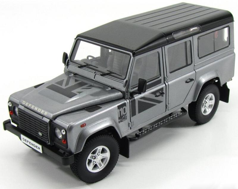 Land Rover Defender 110 RHD Orkney Grey Metallic 1/18 Die-Cast Vehicle