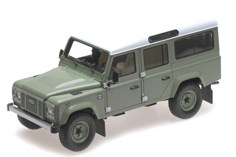 Land Rover Defender 110 LHD Heritage Green 1/18 Die-Cast Vehicle