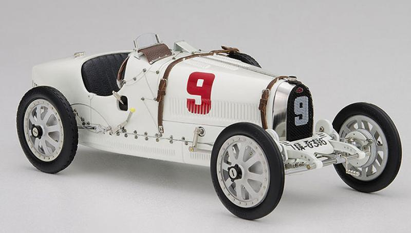 Bugatti T35 Grand Prix German Nation Color Project Old-Time Livery 1/18 Die-Cast Vehicle