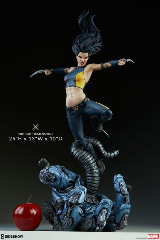 Laura Kinney As X-23 Atop A Severed Sentinel Hand Base Premium Format Figure