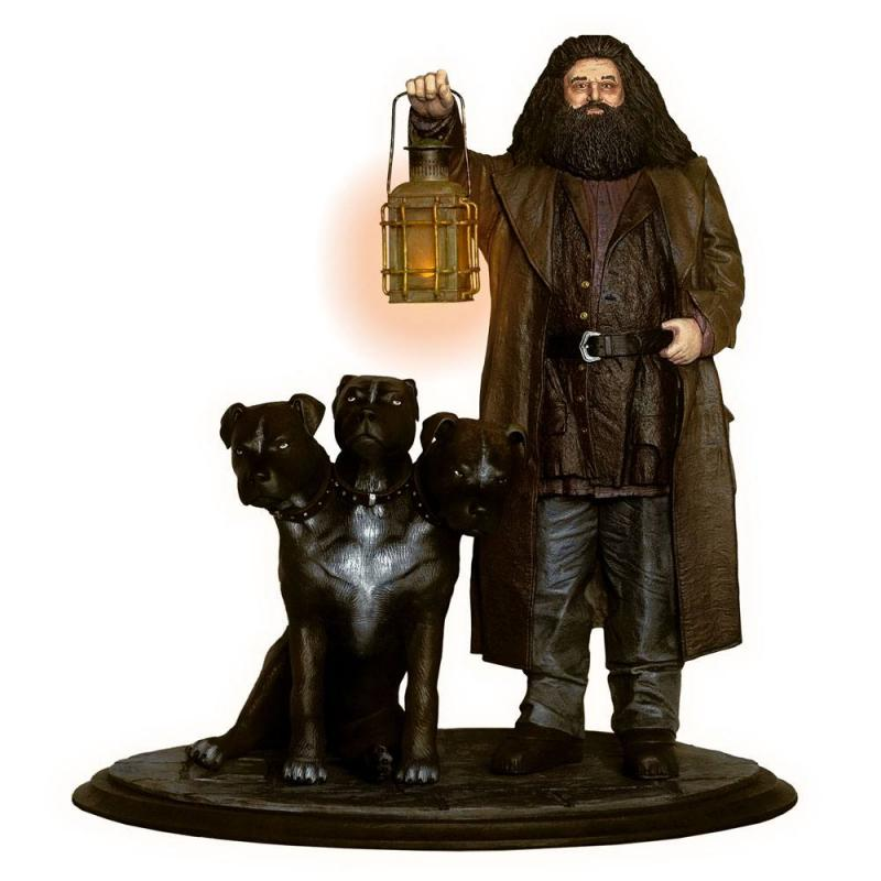 Hagrid & Fluffy The Three-Headed Dog Harry Potter Premium Motion Statue