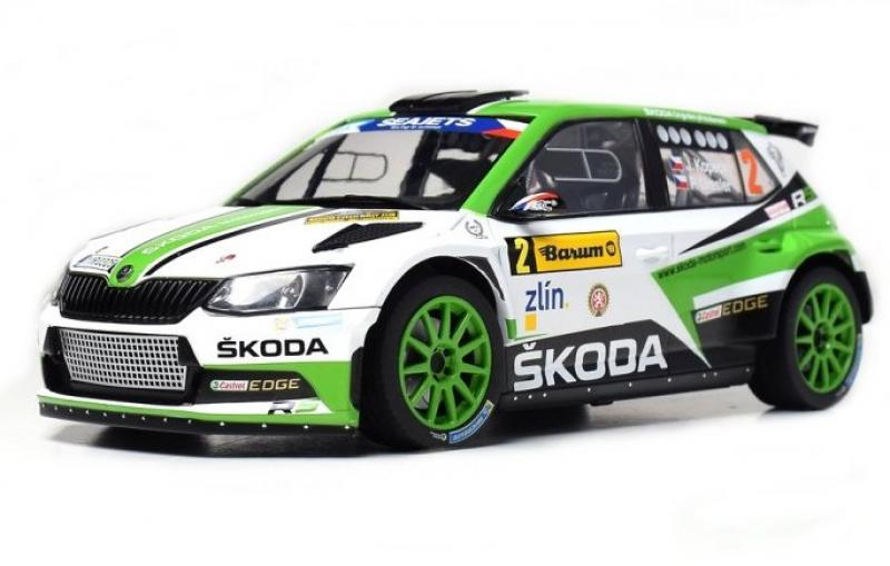 Škoda Fabia R5 Winner No. 2 Barum Rallye Zlin 2017 Racing Livery 1/18 Die-Cast Vehicle model auta Skoda