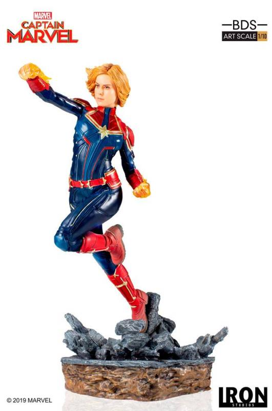 Captain Marvel The Battle Diorama Marvel Comics BDS Art Scale 1/10 Statue