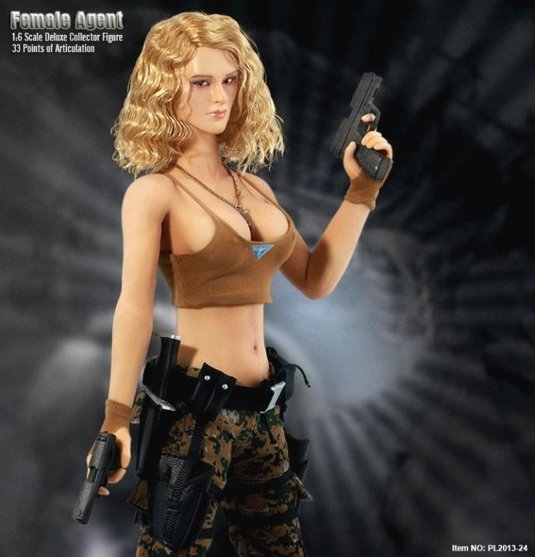 Female Agent In Camouflage Sixth Scale Collector Figure