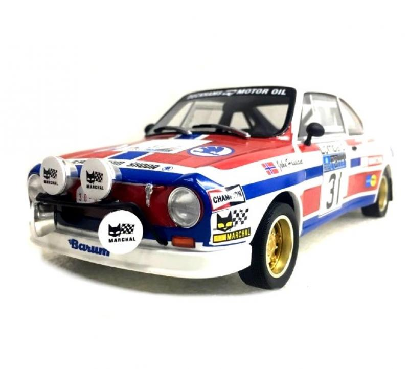 Škoda 130 RS No. No. 31 RAC Rally 1976 Racing Livery 1/18 Die-Cast Vehicle model auta Skoda