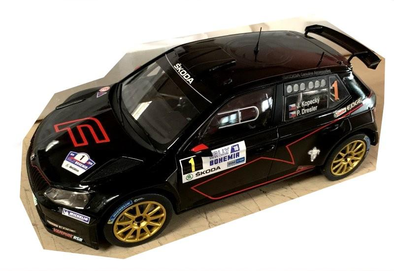 Škoda Fabia R5 No. 1 Ferat Design Rally Bohemia 2016 Racing Livery 1/18 Die-Cast Vehicle model auta Skoda