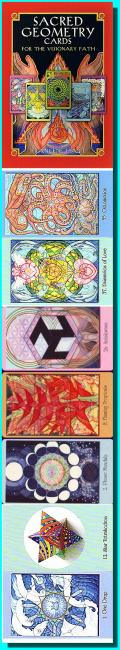 The Sacred Geometry Cards for the Visionary Path  (64 karet a kniha)