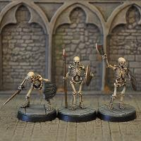 3 Skeleton Miniature Figures Set