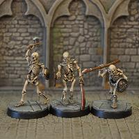 3 Skeleton Miniature Figures Set 2