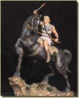 Alexander the Great and Bucephalus His Horse Quarter Scale Statue