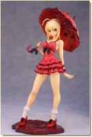 Saber One-piece Dress And Parasol Anime Figure