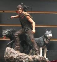 Daryl Dixon And The Wolves The Walking Dead Statue Diorama