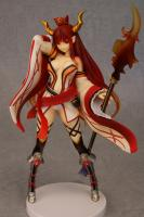 Red-Eyed Enma Horned Fighter Orange Sexy Anime Figure