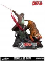 Ezekiel and Shiva The Walking Dead Statue Diorama