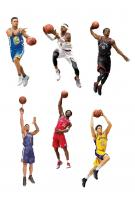 Hall of Fame Players NBA Basketball Action Figures Series 32 Assortment (8)