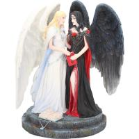 Dark And Light Angels Premium Figure Diorama Andělé Světla a Temna  soška