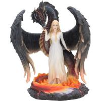 Angel And Dragon Born Of Flames Premium Figure  Dračí dívka soška