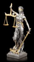 Justitia The Goddess of Justice Silver Golden Premium Figure  bohyně spravedlnosti soška