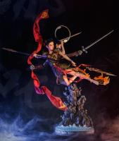 NeZha The Twins In Battle Quarter Scale Statue Diorama