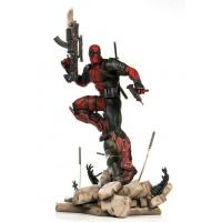 Deadpool Atop Stony Cannon Base Sixth Scale Collectible Figure