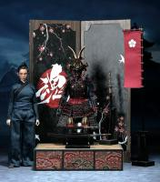 Female Samurai In Black Armor The Butterfly Helmets DELUXE Sixth Scale Collector Figure