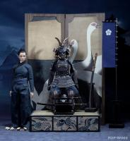 Female Samurai In AGED Black Armor The Butterfly Helmets DELUXE Sixth Scale Collector Figure