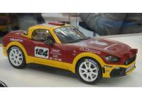 Abarth 124 Spider Rally Concept Yellow Red 1/18 Die-Cast Vehicle