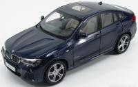 BMW X4 xDrive 3.5d (F26) Imperial Blue Metallic 1/18 Die-Cast Vehicle
