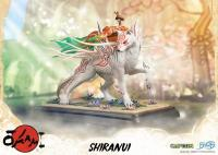 Okami Atop Shiranui The White Wolf Statue Diorama