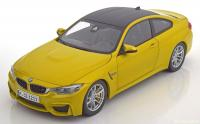 BMW M4 Coupé (F82) 2014 Yellow Metallic 1/18 Die-Cast Vehicle