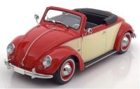 Volkswagen VW Brouk (Käfer) 1200 Hebmüller Cabriolet Beige Red 1/18 Die-Cast Vehicle