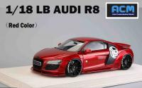 Audi R8 LB PERFORMANCE Liberty Walk Red 1/18 Die-Cast Vehicle