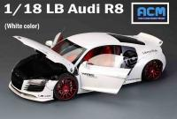 Audi R8 LB PERFORMANCE Liberty Walk White 1/18 Die-Cast Vehicle