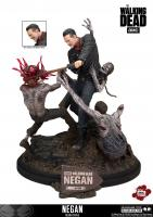 Negan Battling Walkers The Walking Dead Statue Diorama