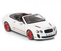 Bentley Continental Supersports Convertible ISR Car White 1/18 Die-Cast Vehicle