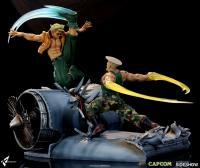 Charlie Nash In Moonsault Slash Move The Street Fighter Alpha Statue Diorama