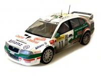 Škoda Octavia WRC Evo2 n. 11 Rally DIRTY 1/18 Die-Cast Vehicle model auta Skoda