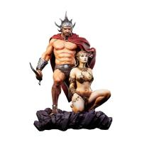 The Swordsman of Mars And Girl Quarter Scale Frazetta Legacy Statue Diorama