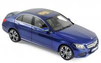 Mercedes C-Klasse 2014 Blue Metallic 1/18 Die-Cast Vehicle