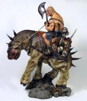 Head Merchant The Barbarian And Creature Statue Diorama model kit stavebnice