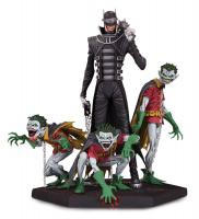 The Jokerized Batman Who Laughs & Robin Minions Dark Nights Metal Deluxe Statue