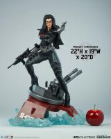Baroness Atop A Turret Cannon Base The G.I. Joe Quarter Scale Statue