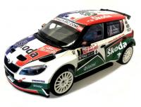 Škoda Fabia S2000 Facelift No. 7 Rallye Monte Carlo 2011 Racing Livery 1/18 Die-Cast Vehicle model auta Skoda