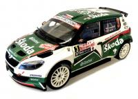 Škoda Fabia S2000 Facelift No. 3 Rallye Monte Carlo 2011 Racing Livery 1/18 Die-Cast Vehicle model auta Skoda