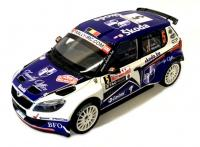 Škoda Fabia S2000 Facelift No. 5 Rallye Monte Carlo 2011 Racing Livery 1/18 Die-Cast Vehicle model auta Skoda