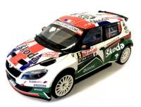 Škoda Fabia S2000 Facelift No. 9 Rallye Monte Carlo 2011 Racing Livery 1/18 Die-Cast Vehicle model auta Skoda