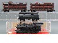 Southern Pacific Fire Train 4-6-0 #2252 HO Brass Scale Steam Locomotive & Water Cars (2 pack)  Haičský vlak