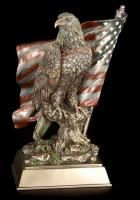 Eagle And U.S. Flag Bronzed Premium Figure Diorama