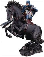 Batman Atop His Steed A Call to Arms Mini Battle Statue